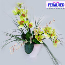 Maceta de orquídeas artificiales - RF00518