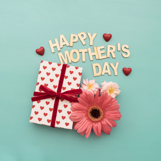 lettering happy mother s day caja de regalos flores y corazones 23 2147619840