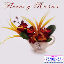 Decoración con orquídeas - Flores artificiales RF00478